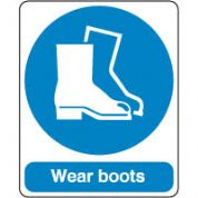 Mandatory Safety Sign - Wear Boots 169